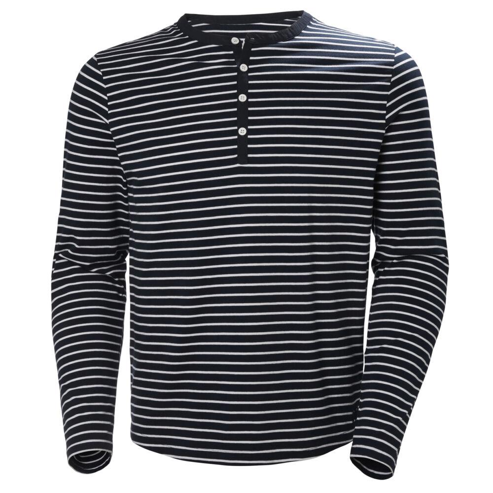 5324f3209c HH Fjord Henley Navy Stripe férfi póló - FÉRFI PÓLÓK