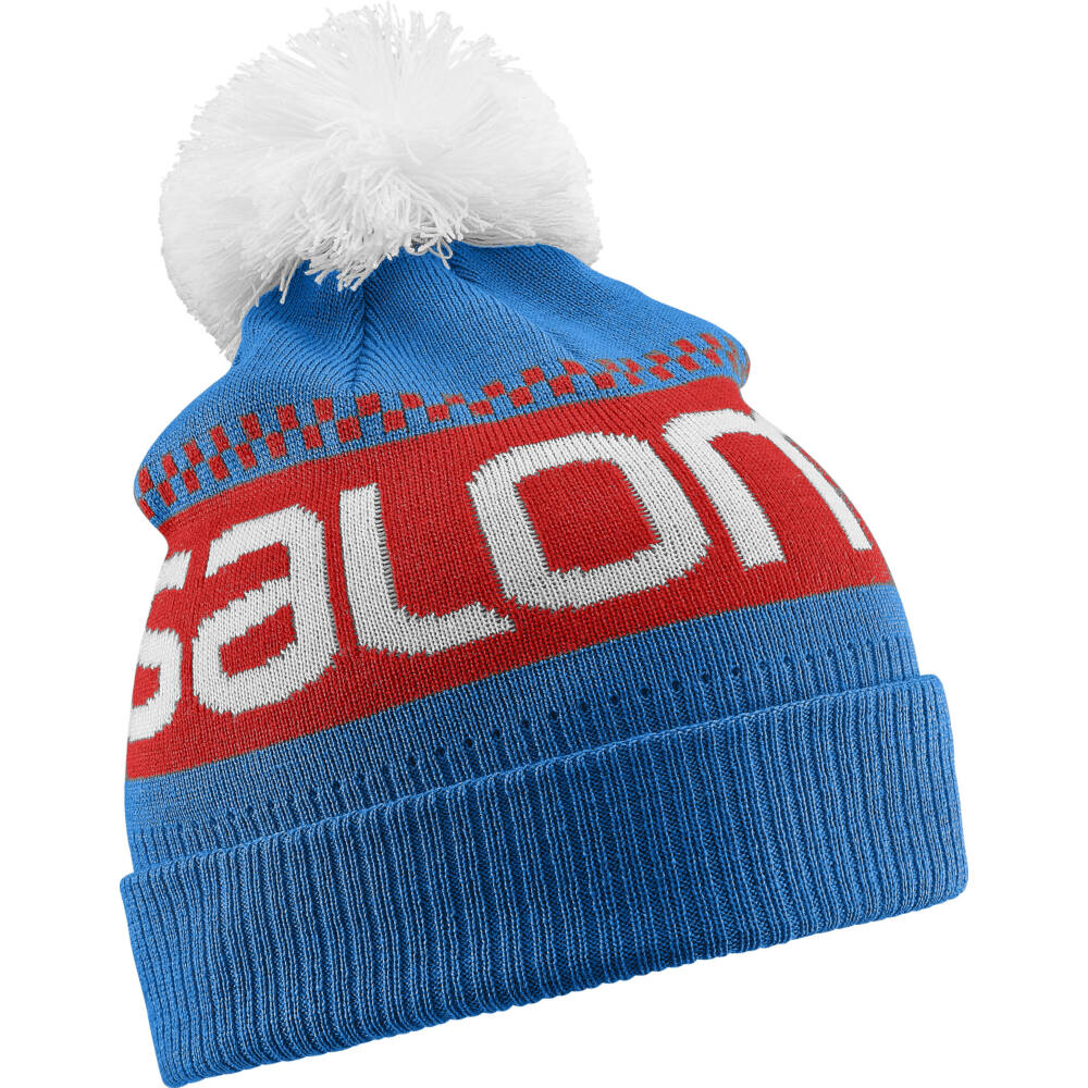 SALOMON Junior Logo Beanie Blue junior sapka - TÉLI SAPKÁK  SÍMASZKOK 41de01a91d