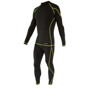 OZONE Nature Black/Lime férfi aláöltöző szett