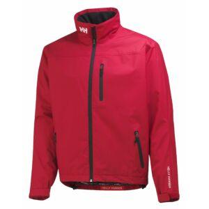 HH Crew Jacket Red férfi vitorlás dzseki