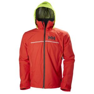 HH Fjord Jacket Alert Red férfi vitorlás kabát