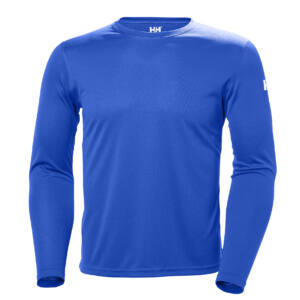 HH Tech Crew LS Shirt Olymp. Blue férfi aláöltöző