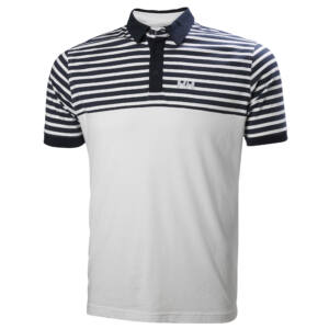 HH Fjord Polo Wht. Stripe férfi póló