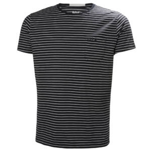 HH Fjord T-Shirt Navy Stripe férfi póló