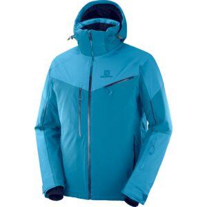 SALOMON Icespeed Jkt. Lyons Blue/ Fjord Blue férfi síkabát 19/20