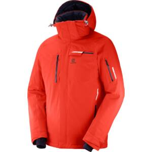 SALOMON Brilliant JKT. M Fiery Red férfi síkabát 18/19