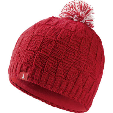 ATOMIC AMT Basket Weave Beanie W. Red női sapka