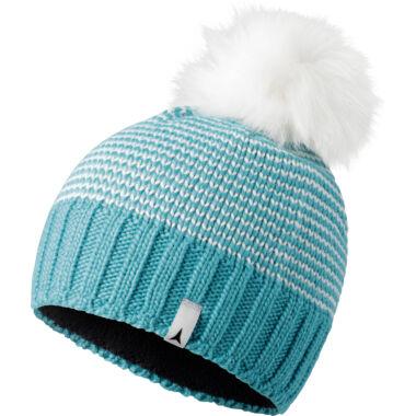ATOMIC W Alps Fluffy Pom Beanie Blue/Wht. női sapka