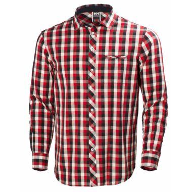 HH Coast Shirt Navy Check férfi ing