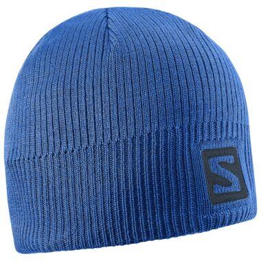 SALOMON Logo Beanie Blue sapka