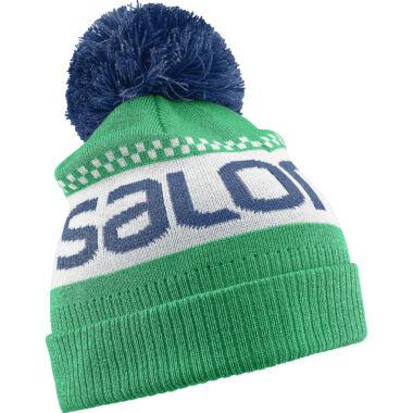 SALOMON Junior Logo Beanie Green junior sapka
