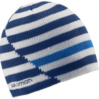 SALOMON Stripe Reversible Beanie Blue sapka