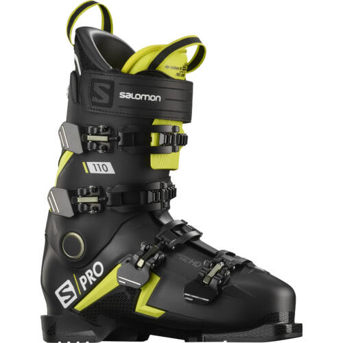 SALOMON S/Pro 110 Black/ Acid Green sícipő 19/20