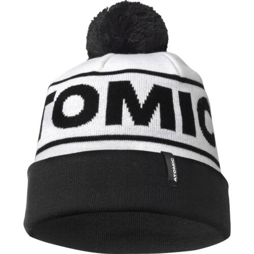 ATOMIC Alps Pom Beanie White/ Black sapka