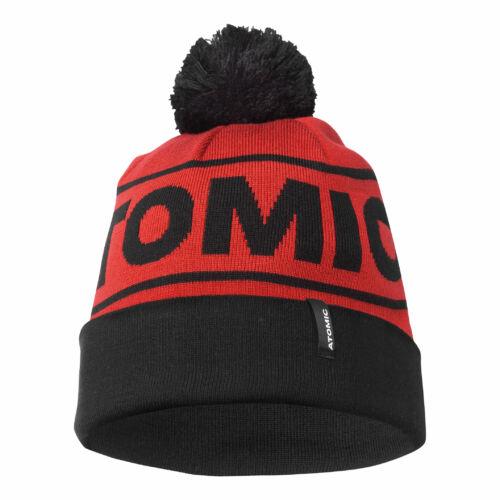 ATOMIC Alps Pom Beanie D. Red/ Black sapka