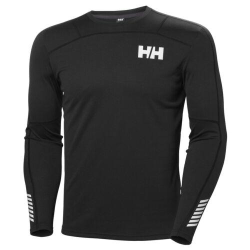 HH Lifa Active Crew Black férfi aláöltöző