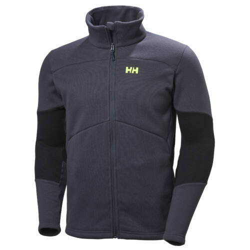 HH EQ Black Midlayer Graphite férfi pulóver