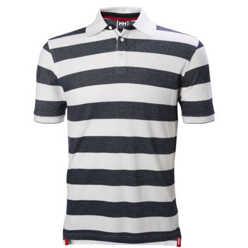 HH Marstrand Polo Navy Stripe férfi póló