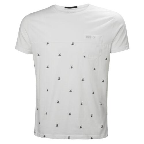 HH Fjord T-Shirt White Print férfi póló