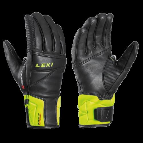 Leki Worldcup Race Speed 3D Black/ Lemon férfi síkesztyű 20/21