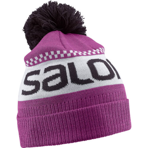 SALOMON Junior Logo Beanie Aster junior sapka