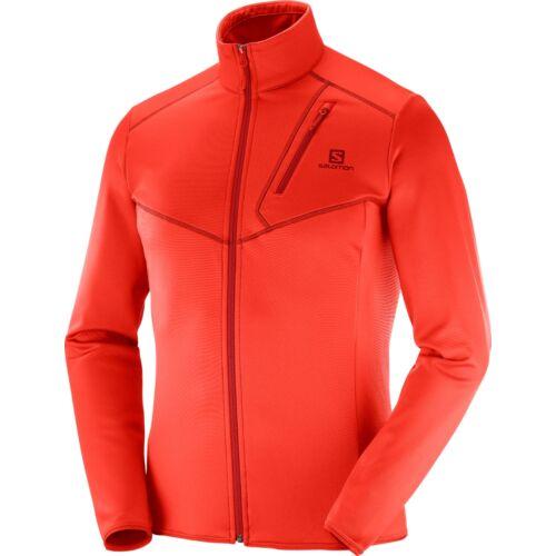 SALOMON Discovery FZ M Fiery Red férfi pulóver 18/19